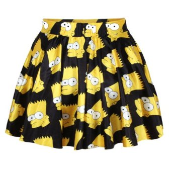 Amazon.com: Ninimour- Sexy Retro Vintage Digital Print Skater Skirt (The Simpsons): Clothing