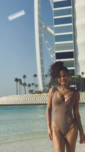 swimwear,one piece swimsuit,christina milian,summer,beach,instagram