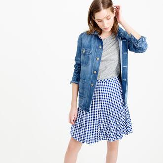 skirt gingham gingham skirt blue blue skirt