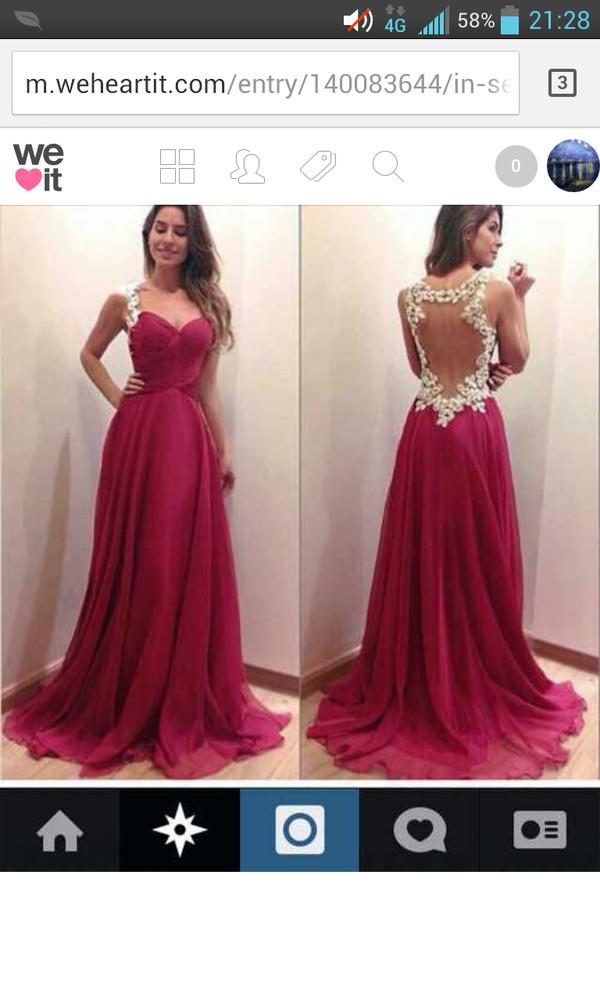 prom dress open back prom dress