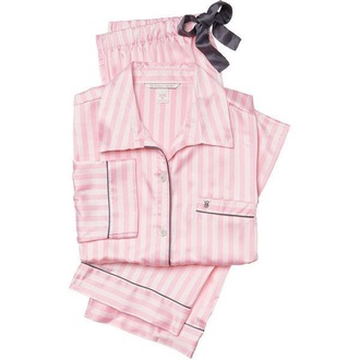 pajamas vs pink light pink blouse victoria's secret silky pajamas
