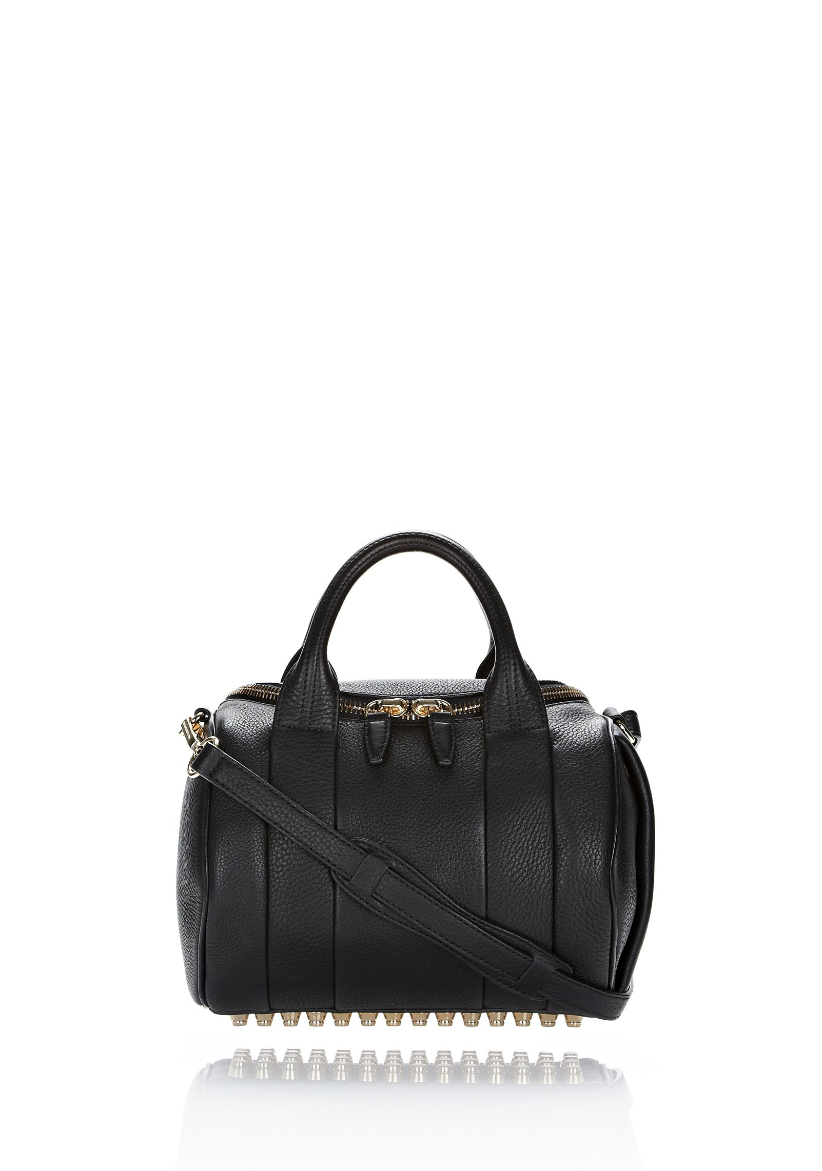 ROCKIE IN SOFT BLACK WITH PALE GOLD - Shoulder Bags Women - Alexander Wang Online Store