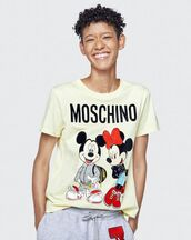 top,h&m,moschino x h&m,mickey mouse,moschino