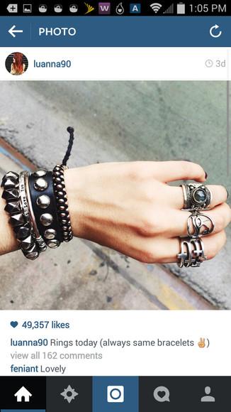 jewels ring silver bracelets