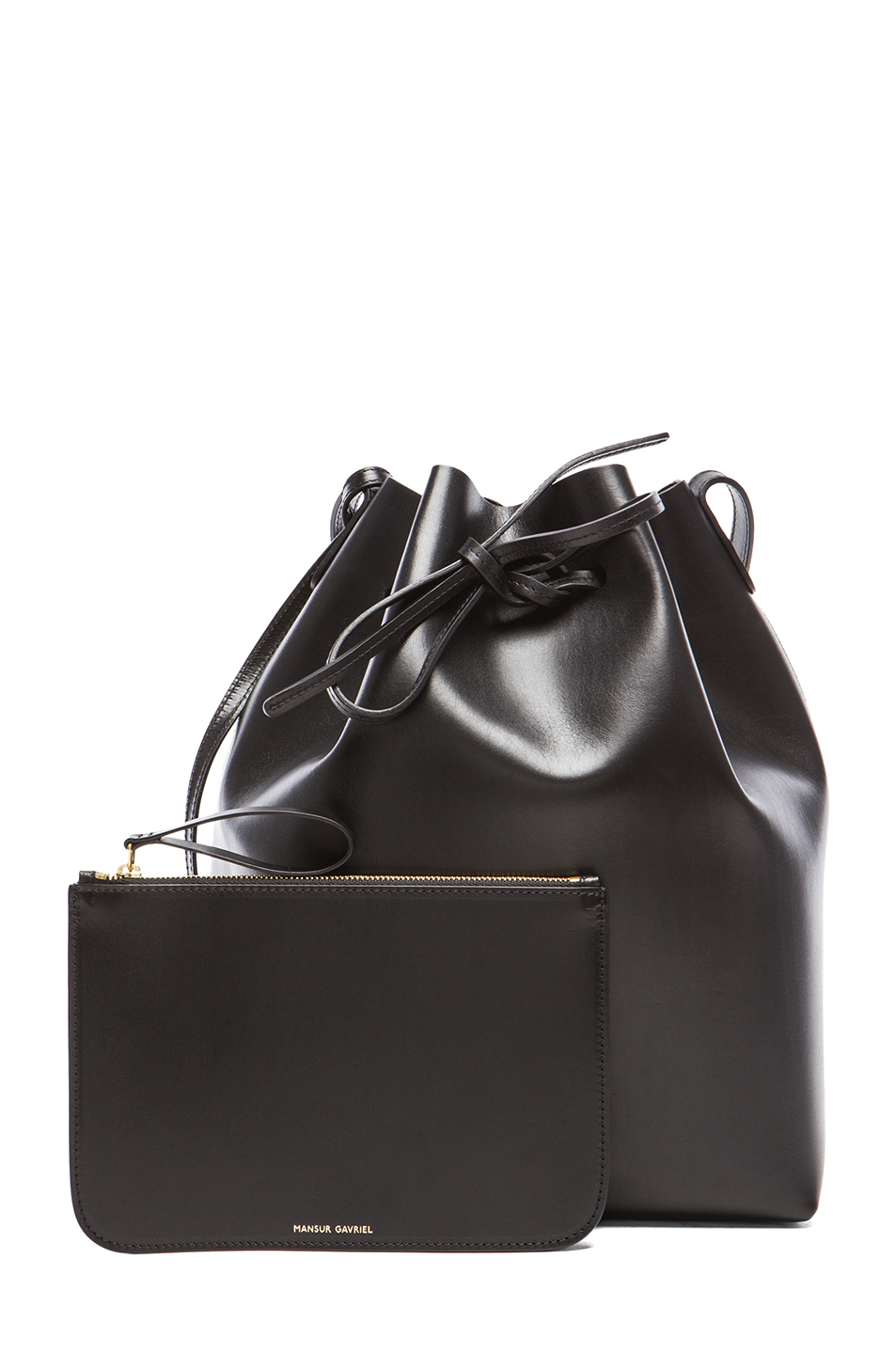 Mansur Gavriel | Coated Large Bucket Bag in Black