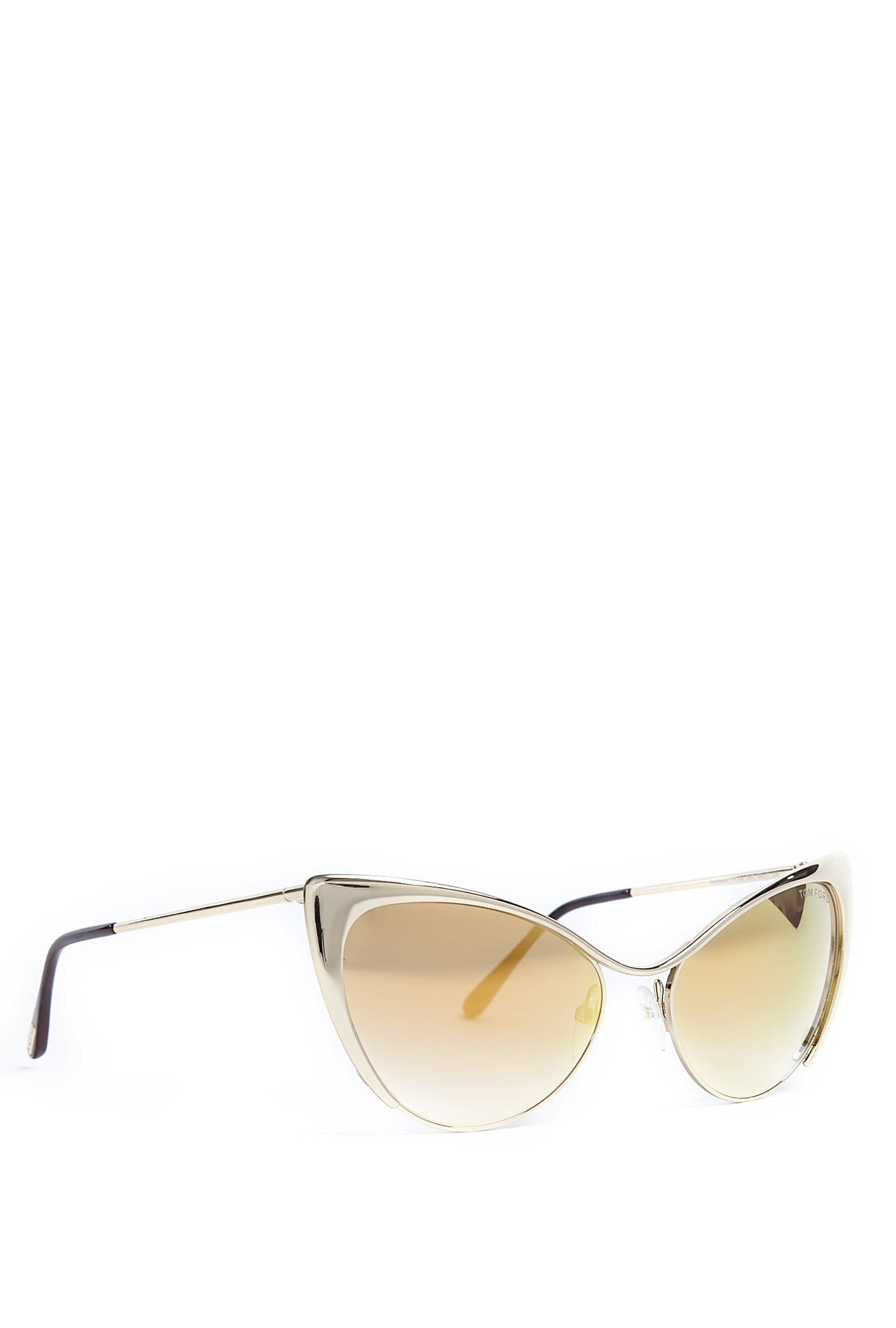Tom Ford Nastasya Cat Eye Frame Gold Lens Sunglasses by ...