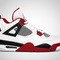 "Air jordan 4 retro ""fire red"""