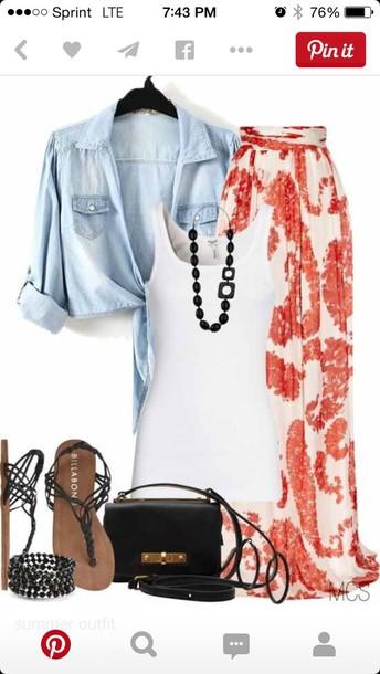 skirt maxi skirt summer outfits