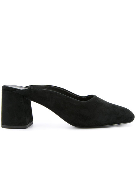 Senso women mules leather suede black shoes