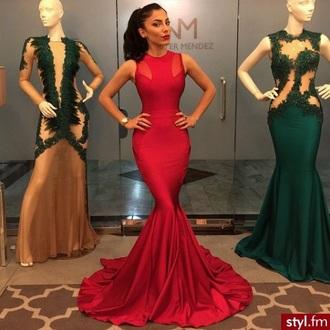 dress prom dress prom gown red dress elegant dress