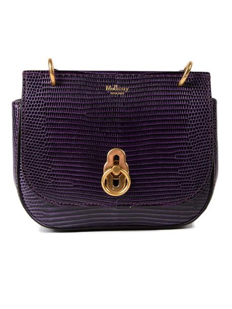 Mulberry satchel mini violet bag