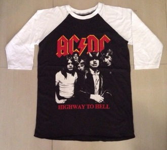 t-shirt baseball shirts baseball tee baseball jersey shirt top tee-shirt ac dc acdc shirt ac/dc shirt