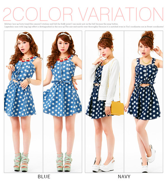 blouse dress dreamvs polka dots girly