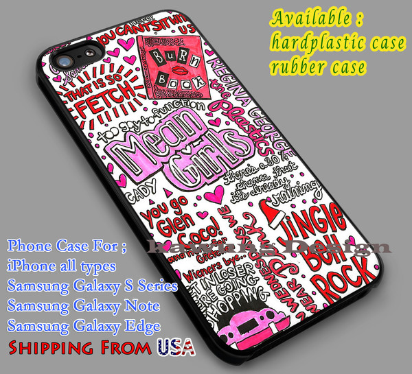 Mean Girls Art Collage iPhone 6s 6 6s 5c 5s Cases Samsung Galaxy