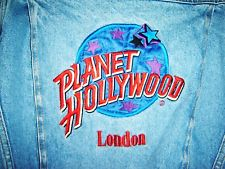 VTG Planet Hollywood London Jeans Levi Denim Jacket Coat Youth Boys Girl M 10 12 | eBay