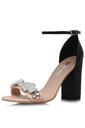 **Hautfarbene Sandaletten von Miss KG - Topshop deutschsprachig