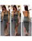 Sexy assymetrical backless dress sexy tight halter irregular party