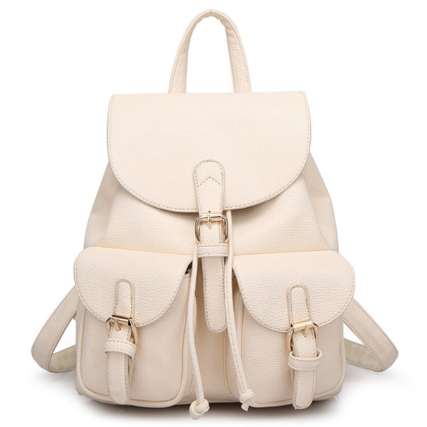 cb86bc0b7e bag backpack fashion nude beige back to school