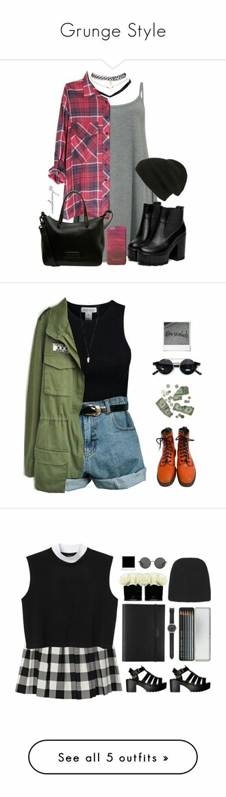 shirt goth rock green military style punk hipster