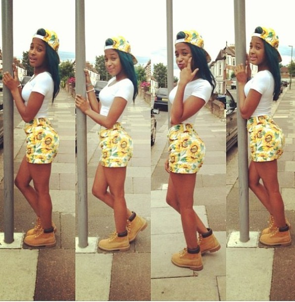 Shorts Baddies Baddies Yellow Daisy Summer Outfits Shawty Summer Time Fine Hat Shirt ...