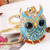 [grxjy5100309]Cute Rhinestone Owl Pendant Necklace
