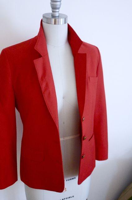 Vintage pendleton red blazer by ginaesposito on etsy