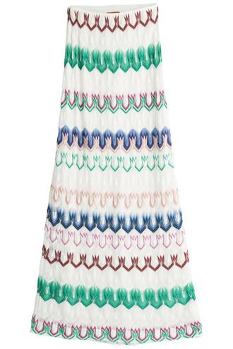skirt maxi skirt maxi knit crochet multicolor