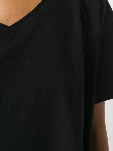 KENDALL+KYLIE t-shirt shirt t-shirt women cotton black top