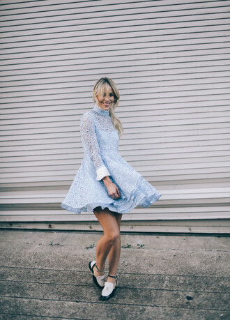 happily grey blogger dress bag long sleeve lace dress
