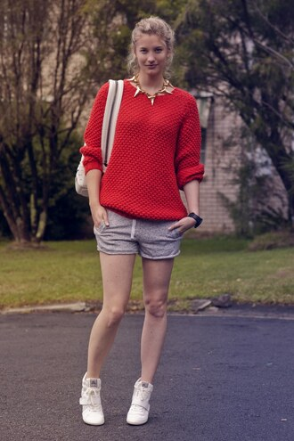 bag jewels sweater shoes shorts zanita
