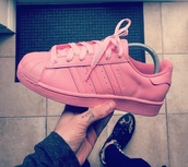 shoes,adidas,pink,pink adidas,shell toe,superstar adidas,shell toe adidas