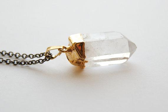 Crystal Necklace  MEDIUM  Handmade Jewelry  Free by SPARKLEFARM