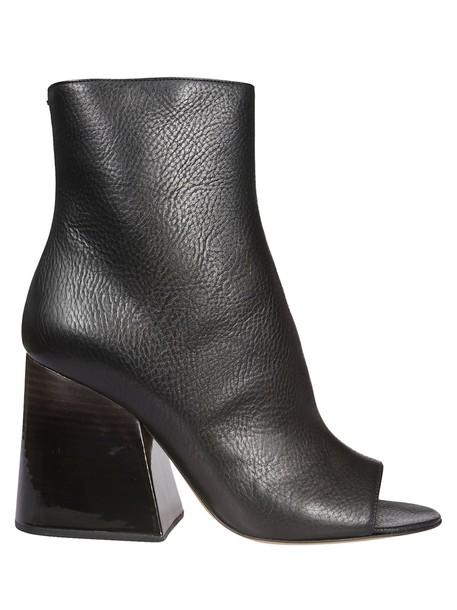 MAISON MARGIELA open ankle boots black shoes