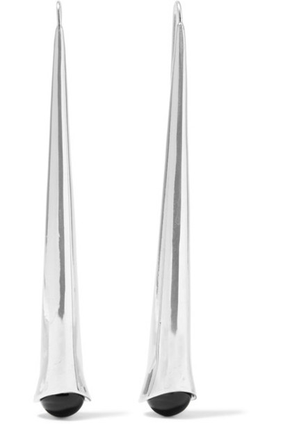Sophie Buhai - Eileen Silver And Onyx Earrings