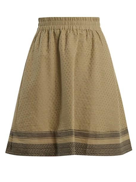 CECILIE COPENHAGEN skirt jacquard cotton khaki