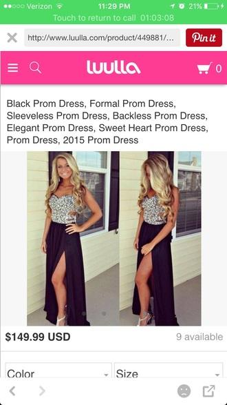 dress prom dress prom black dress black silver sparkle