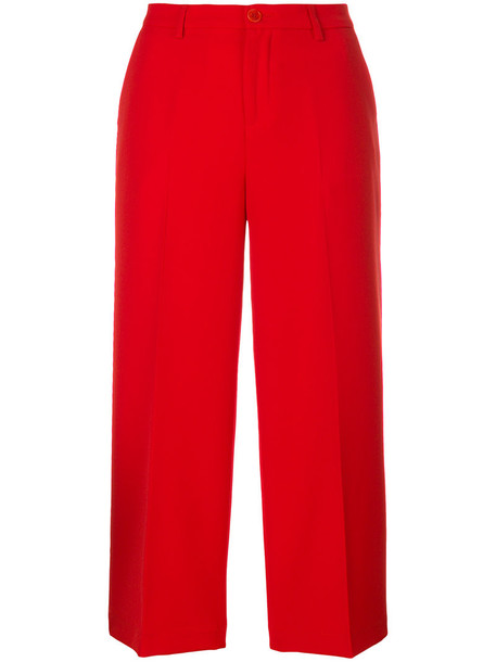 LIU JO women spandex red pants