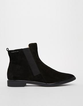 Calvin Klein | Calvin Klein Vivi Flat Chelsea Ankle Boots at ASOS