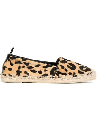 espadrilles print leopard print nude shoes