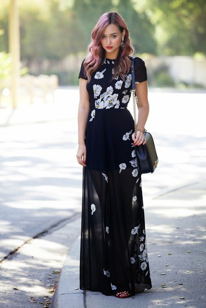 flower maxi dress tumblr