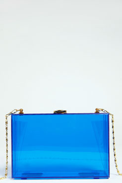 Lucy Perspex Box Clutch at boohoo.com