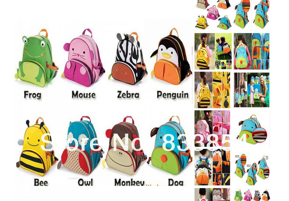 Wholesale  2013 Kids Classic Cute Animal backpack bag / Canvas Shoulder bag, Free Shipping 11 model Children bag school cartoon-in Backpacks from Luggage & Bags on Aliexpress.com
