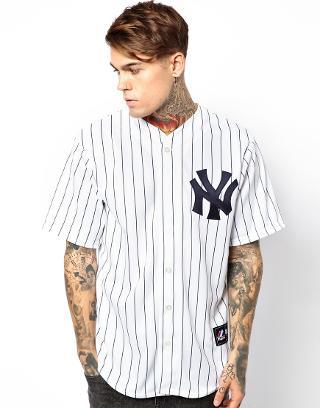 majestic camiseta de baseball ny yankees de majestic en asos. Black Bedroom Furniture Sets. Home Design Ideas