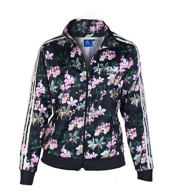 jacket adidas floral print jacket