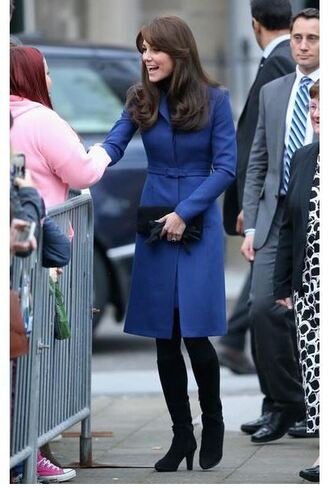 coat kate middleton boots fall outfits shoes blue coat