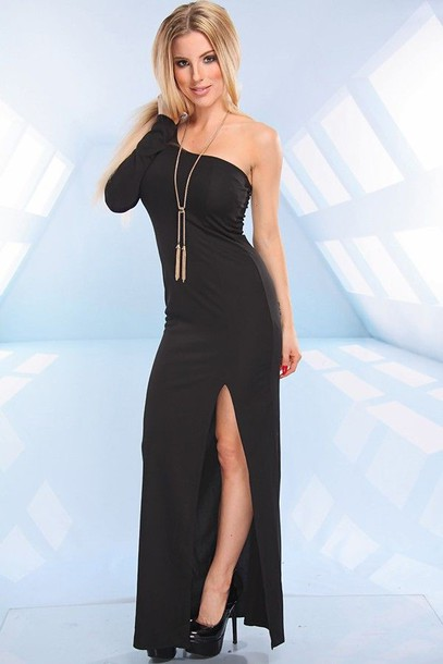 One Shoulder Dress One Shoulder Maxi Dress One Shoulder Maxi Slit