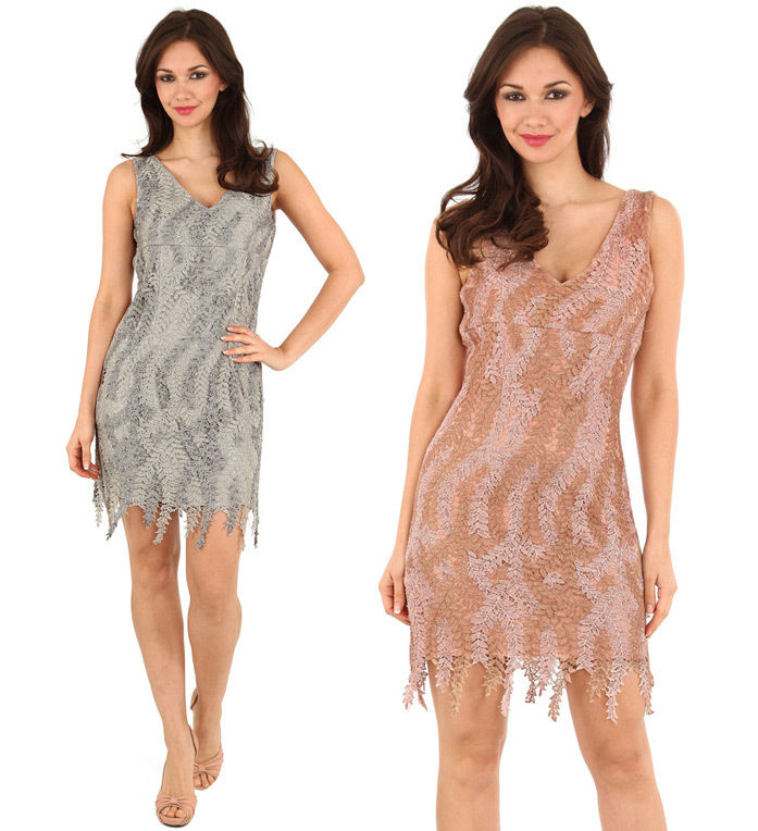Goddiva Beaded Lace Dress | eBay