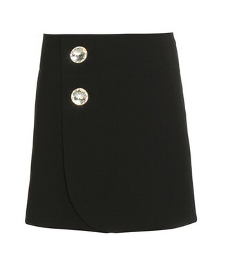 miniskirt wool black skirt