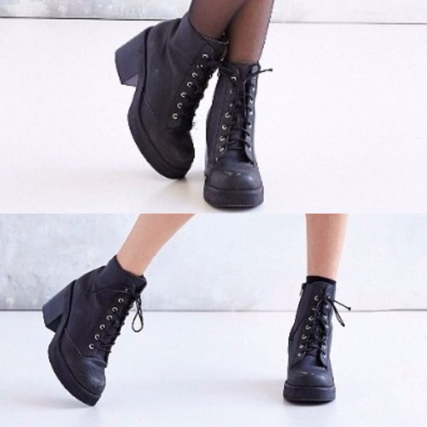 87c7d952df6 shoes black hight heels boots tumblr grunge grunge shoes
