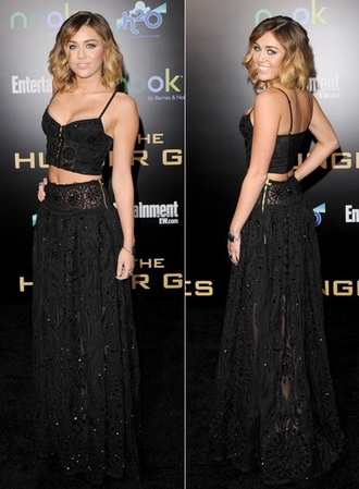 skirt miley cyrus crop tops short hair